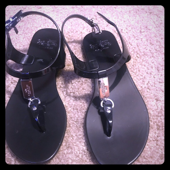 Coach Other - Coach Black Sandals